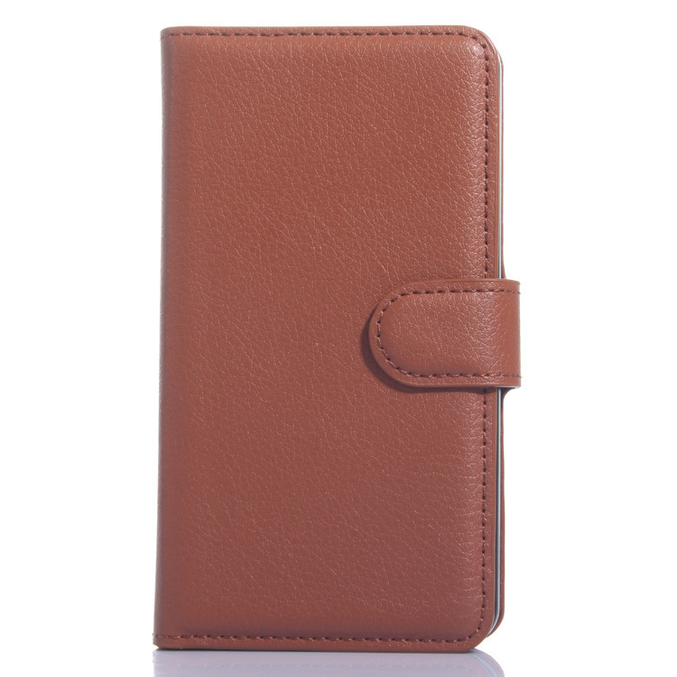 Wallet Flip Leather Case With Card Bag Holder For LG L Bello Brown (Intl)