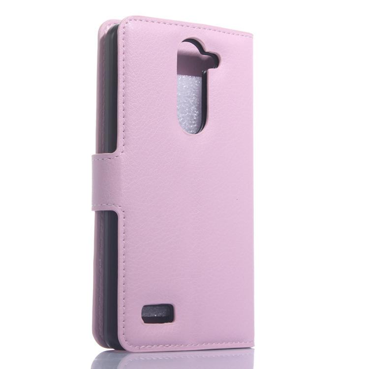 Wallet Flip Leather Case With Card Bag Holder For LG L Bello Pink (Intl)