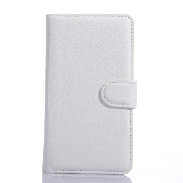 Wallet Flip Leather Case With Card Bag Holder For LG L Bello White (Intl)
