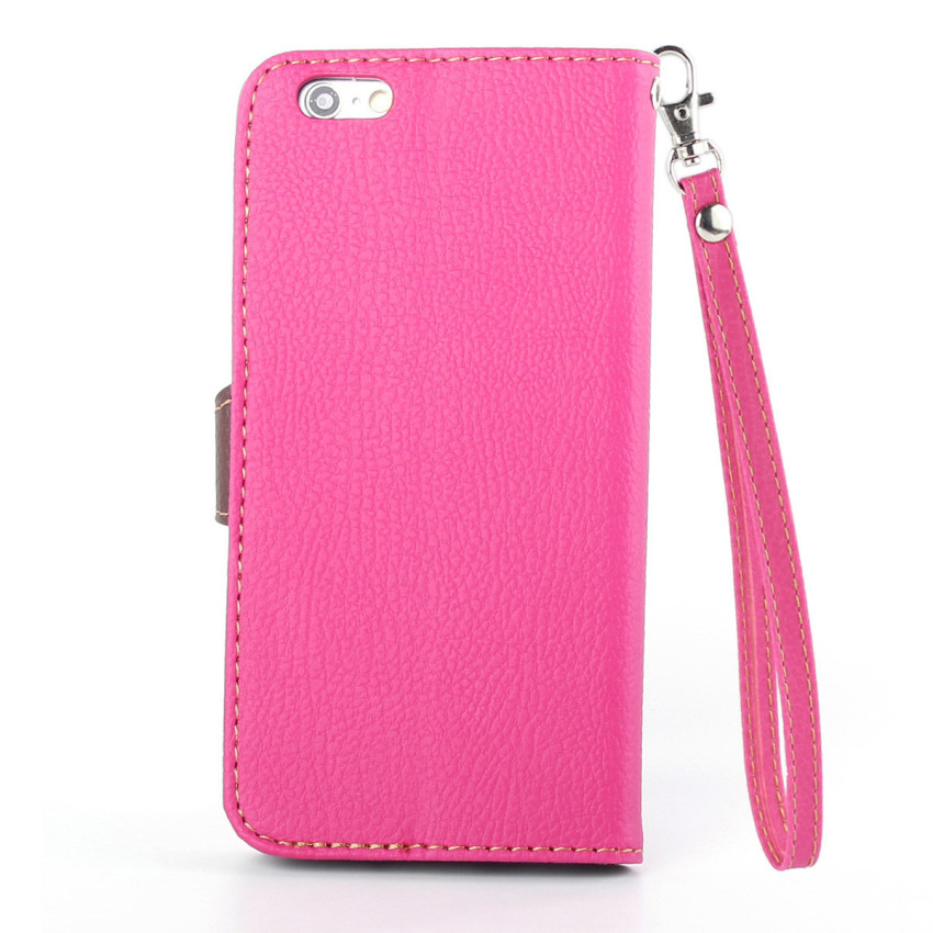 Wallet Flip Leather Case with Card Slot Holder for Apple iPhone 6/6S (Pink) (Intl)