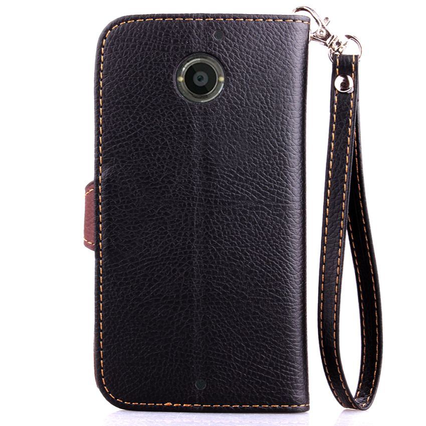 Wallet Flip Leather Case With Card Slot Holder For Moto X+1 (Black) (Intl)