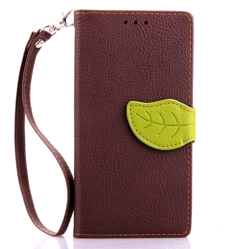 Wallet Flip Leather Case with Card Slot Holder for Samsung Galaxy A7 (Brown) (Intl)