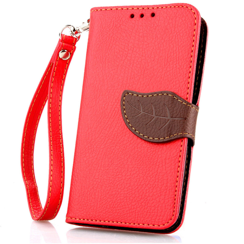 Wallet Flip Leather Case With Card Slot Holder For Samsung Galaxy S5 mini (Orange) (Intl)