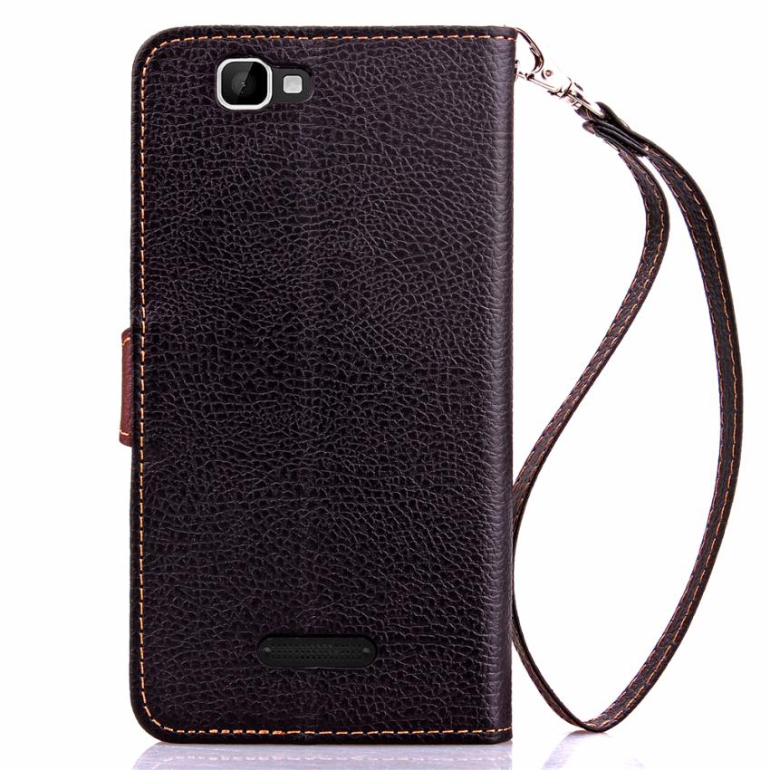 Wallet Flip Leather Case with Card Slot Holder for Wiko Rainbow (Black) (Intl)