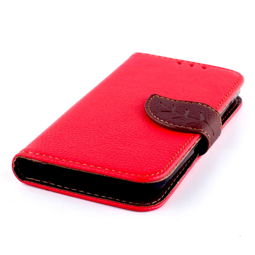 Wallet Flip Leather Cover for LG L90 (Red) (Intl)