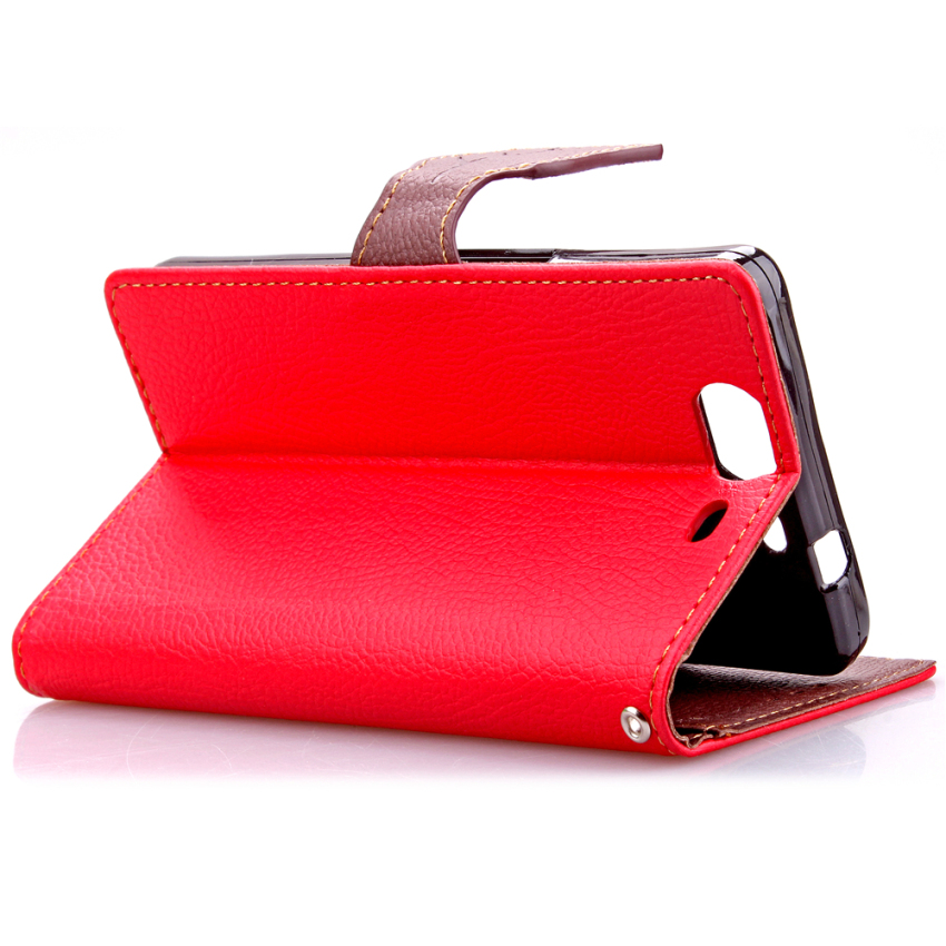 Wallet Flip Leather Cover for Wiko Highway 4G (Red) (Intl)