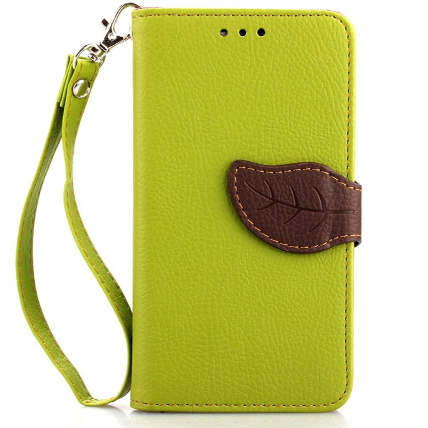 Wallet Flip Leather Cover with Card Slot Holder for Google Nexus 5 (Green) (Intl)