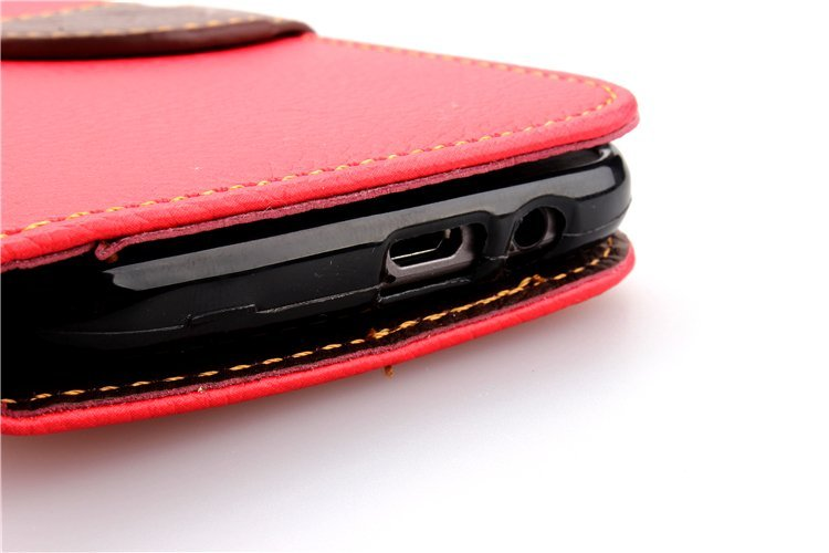 Wallet Flip Leather Cover with Card Slot Holder for HTC One M8 (Orange) (Intl)