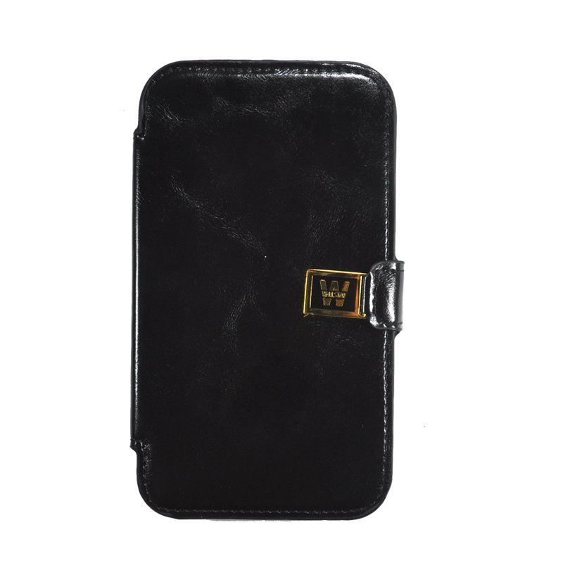 Wallston Crazy Leather Case Galaxy Note 2 - Hitam