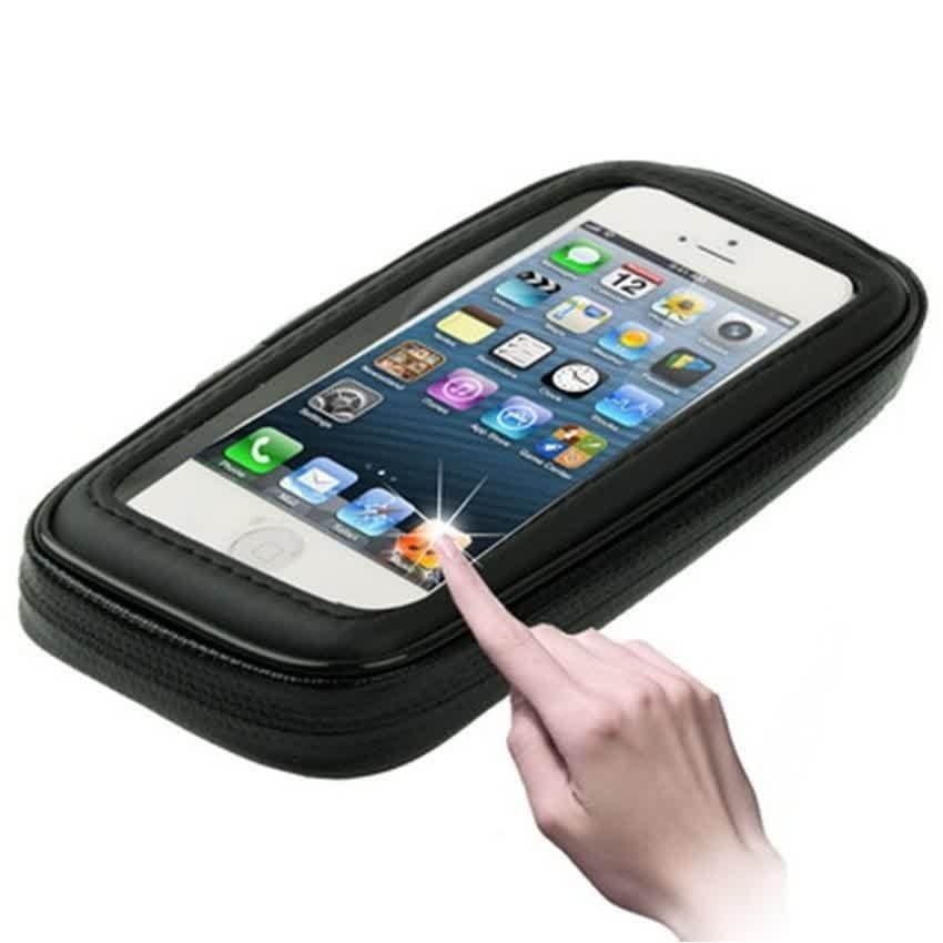 Waterproof & Bike Mount Case for iPhone 5/5S/5C/ iPod Touch 5 - Hitam