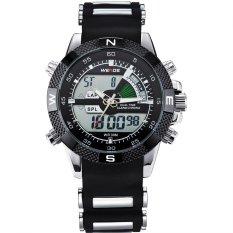 Weide Japan Quartz Men LED Sports Watch 30M Water Resistance - WH1104 Hitam