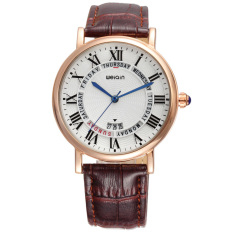 WEIQIN Auto Date 3ATM Casual Fashion Women's Watches Luxury Brand PU Leather Quartz Watch Dress Relogio Masculino Gift 2016t - Intl