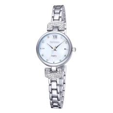 WEIQIN Bling Crystal Women Girl Stainless Steel Quartz Wrist Watch Bracelet Analog Girl Dress Quartz Watches Relogio Feminino