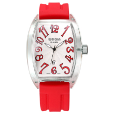 WEIQIN Men's Fashion Silicone Watchband Sport Watches Quartz Movement 394104 (Red) - Intl