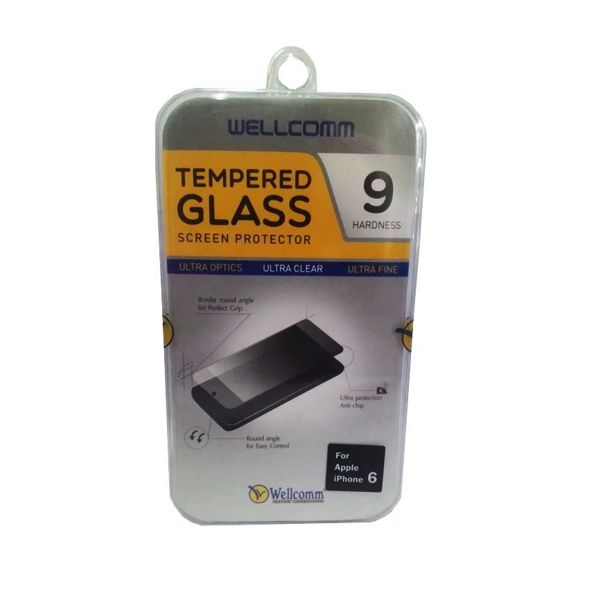 Wellcomm Tempered Glass Screen Protector 9 Hardness For Iphone 6 - Transparent
