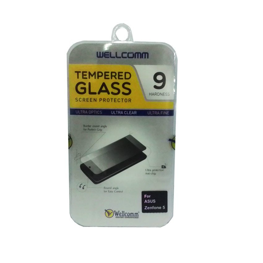 Wellcomm Tempered Glass Screen Protector 9 Hardness For Zenfone 5 - Transparent