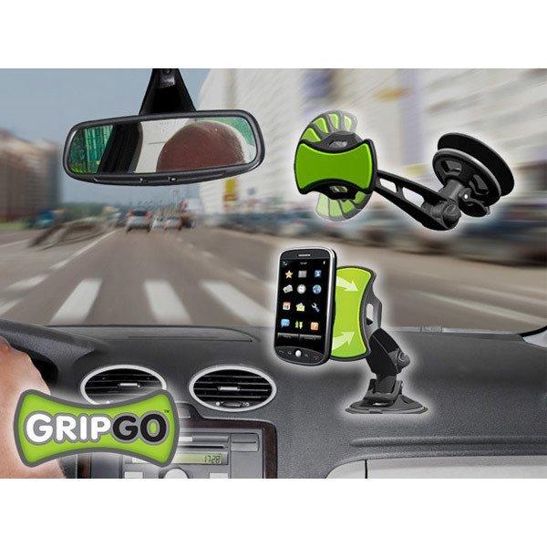 Whiz GripGo Gadget Universal Car Mount Grip n Go Holder Tempel Penyangga GPS Smartphone - Hitam