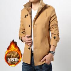 Winter Thickening Coats Male Leisure Korea Type Slim Long Type Thicken Fur Jackets Coat