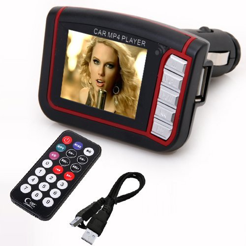 Wireless 1.8'' LCD Car Kit MP3 MP4 Music Player FM Transmitter USB SD MMC Remote (Black) (Intl)