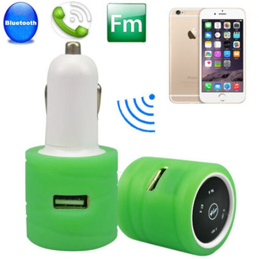 Wireless Bluetooth Car Kit Dual USB Charger Ports MP3 Player FM Transmitter (Intl)