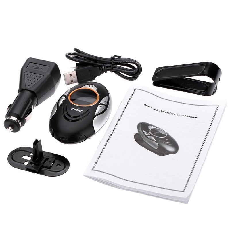 Wireless V2.0 Car Speakerphone Receiver Kit with Clip for Smartphones BT8110 (Black) (Intl)