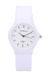 WOMAGE Candy Color Silicone Strap Quartz Watch-white