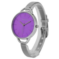 WoMaGe Thin Wire Reticularis Women's Silver Stainless Steel Strap Watch 994007 (Purple)