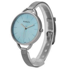 WoMaGe Thin Wire Reticularis Women's Silver Stainless Steel Strap Watch 994011 (Blue)