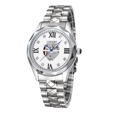 Womdee 2016 Fashion Men Quartz Watches Luxury Brand LONGBO Casual Watch Hollow Dial Roman Number Rhinestones Wristwatches (Intl)