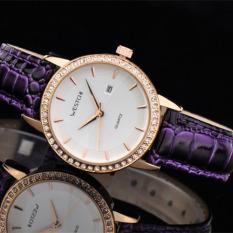 Womdee West Chi Westchi Genuine Ring Drill Purple Belt Calendar Quartz Watch W3109L Watch