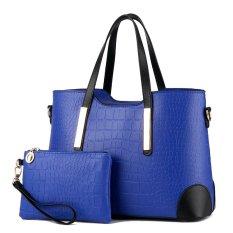Women Bag Top-Handle Bags Fashion Women Messenger Bags Handbag Set PU Leather Bag Sky Blue Set