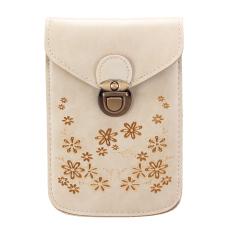 Women Girl Mini Crossbody Messenger Bag Purse Shoulder Mobile Phone Handbag HOT Beige - Intl