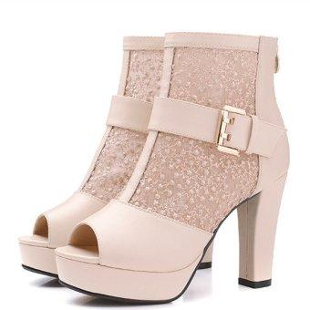 Women Heel Elegance Stylish Strappy Sandal Yellow (Intl ...