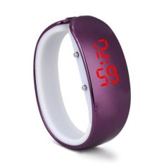 Women Ladies Sport LED Plating Waterproof Bracelet Digital Wrist Watch Purple