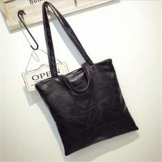Women Large Handbag Fashion Tote Bag Retro British Style MotorcycleBag (Black)