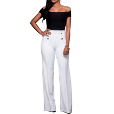 Women Sexy Shoulder Off Crop Tops With Pants Jumpsuits Casual Bandage Clubwear Hot Fashion Women Shoulder Off Backless Bodycon Clubwear - Intl