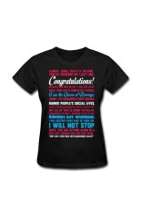 Women's Most Popular Personalize T-Shirt For Black - Intl