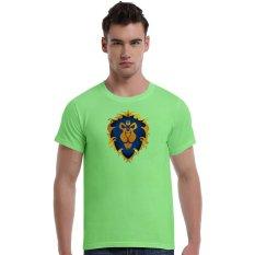 World Of Warcraft King Lion Cotton Soft Men Short T-Shirt (Green) - Intl