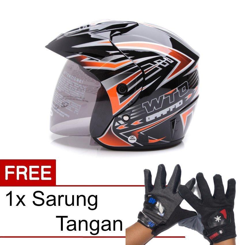 WTO Helmet Z1R PET R2 Rider Hitam Merah Promo Gratis Sarung Source WTO .