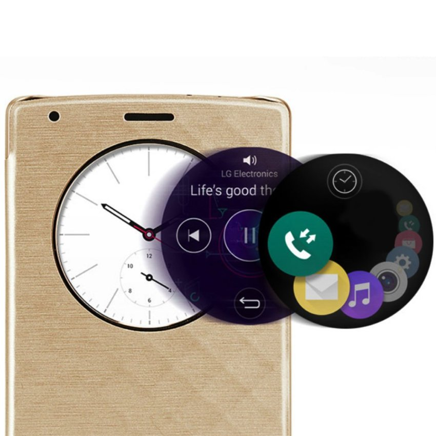 XCSource LG Quick Circle Replacement Back Case for LG G4 Gold BC474 (Gold)