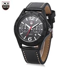 Xinew 2168 Male Quartz Watch Date Display Luminous Pointer Decorative Sub-dial Wristwatch