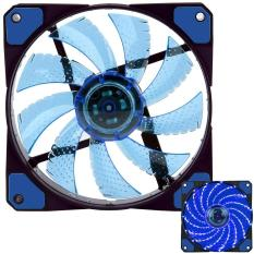 Xiuya 3-Pin / 4-Pin 120x120x25mm LED Quiet Edition High Airflow Low Noise High PressureFan Single Pack 15-RLED Mini Cooling Cooler Fan, Blue