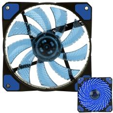 Xiuya 3-Pin / 4-Pin 120x120x25mm LED Quiet Edition High Airflow Low Noise High PressureFan Single Pack 30-RLED Mini Cooling Cooler Fan, Blue