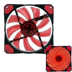 Xiuya 3-Pin / 4-Pin 120x120x25mm LED Quiet Edition High Airflow Low Noise High PressureFan Single Pack 30-RLED Mini Cooling Cooler Fan, Red