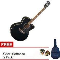 Yamaha Gitar Akustik Elektrik CPX 500II - Hitam + Softcase & Pick