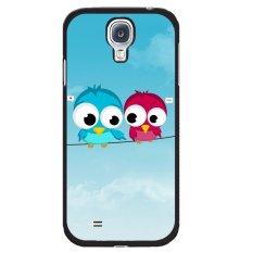 Y&M Cute Birds Lover Phone Case for Samsung Galaxy Mega 6.3 Blue/Red