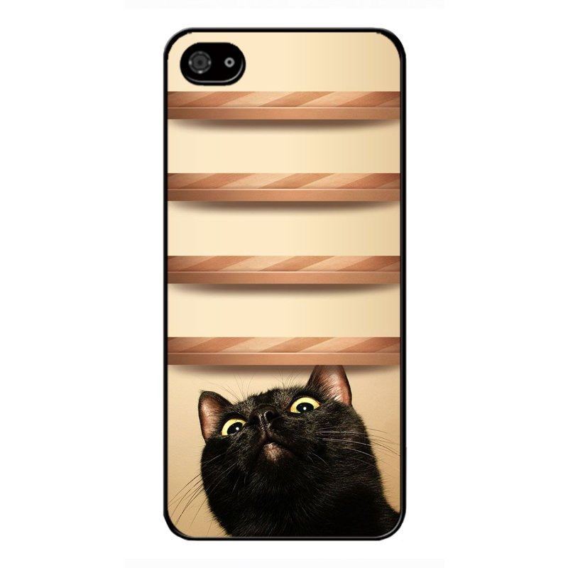 Y&M Cute Black Cat iPhone SE / 5S / 5 Phone Cover (Multicolor)