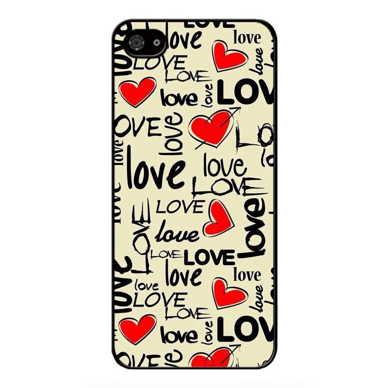 Y&M Love Heart Hand Draw Pattern Cell Phone Cases For iPhone SE / 5S / 5 (Multicolor)