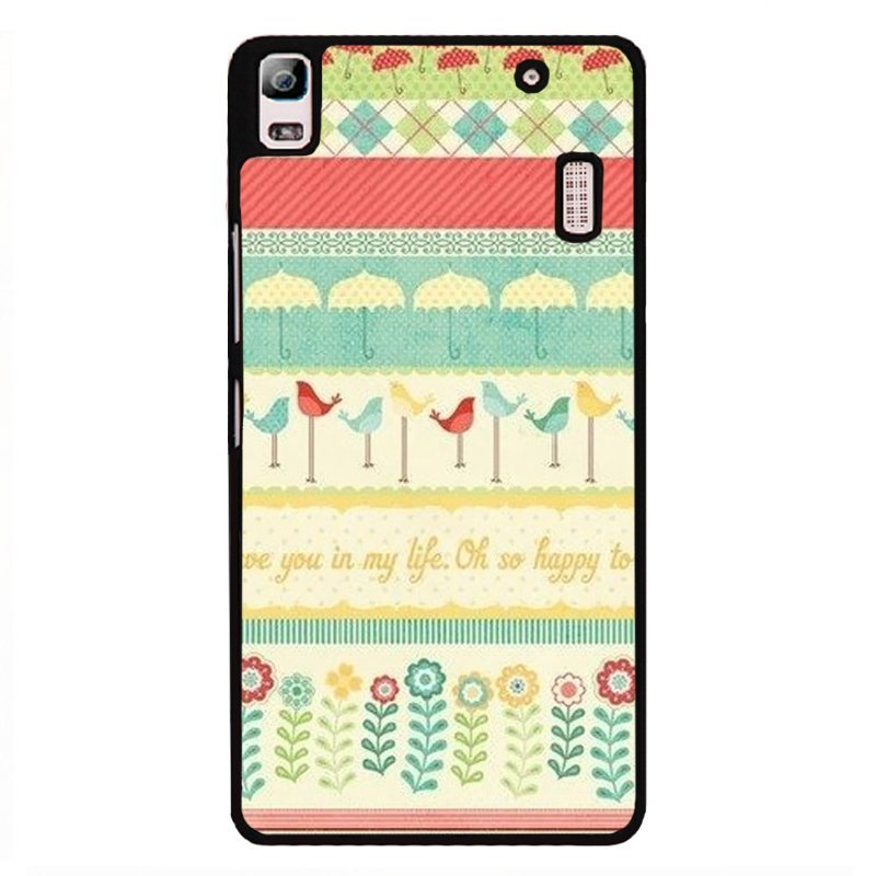 Y&M Beautiful Hand Draw Pattern Covers Cases For Lenovo A7000 (Multicolor)