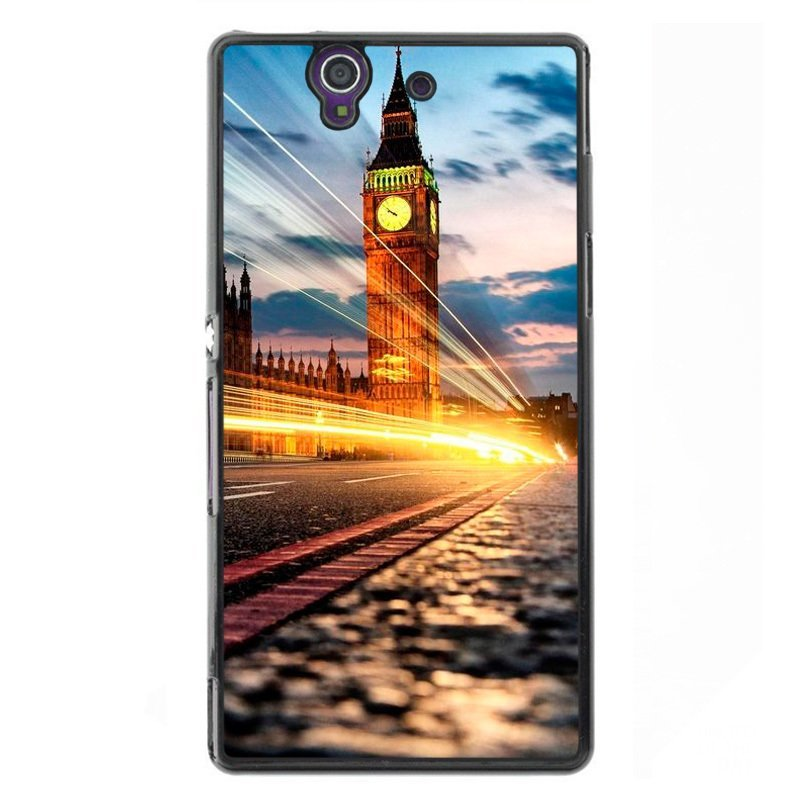 Y&M Big Ben Clock Night Light Phone Case for Sony L36H Black